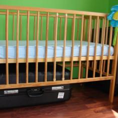 Patut din lemn ptr copii + saltea Bio - Cocos! - Patut lemn pentru bebelusi, 120x60cm, Maro