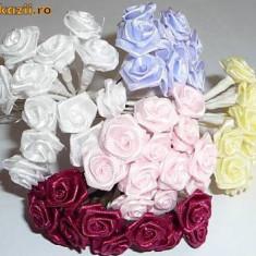 144 trandafiri satin marturii sau cocarde nunta - pret redus