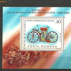 Romania 1985 - MOTOCICLETE, colita MNH, F162