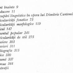 Stefan giosu - dimitrie cantemir - studiu lingvistic