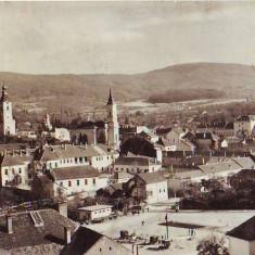 N1035 Zalau vedere panoramica circulata - Carte Postala Crisana dupa 1918