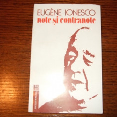 Eugen Ionescu - Note si contranote - Carte de aventura