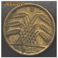 Germania 5 Reichspfennig 1925 D