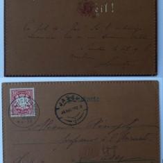Carte postala adresata lui A. D. Xenopol de fiica sa , 1902 , stare excelenta