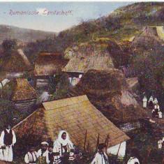 B2056 Vedere de la Tara Case necirculata 1918