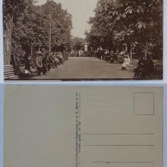 Focsani , vedere din gradina publica , editata de nemti in primul razboi mondial