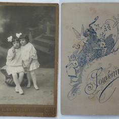 Foto pe carton gros , sfarsit  de secol 19