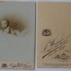 Foto pe carton , sfarsit  de secol 19