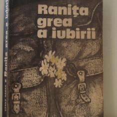 Ranita grea a iubirii - Vasile Baran - Roman, Anul publicarii: 1985