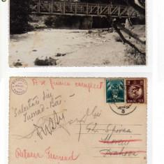 TUSNAD-pod peste Olt, FOTOGRAF ADLER TUSNAD ,RETUR POSTAL
