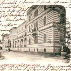 Romania, Salut Baile Herculane, carte postala circulata 1901: Strada Franz Josef - Carte Postala Banat pana la 1904, Fotografie