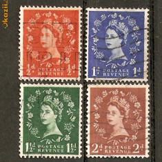 Timbre Anglia 1952-54 Stampilate - Timbre straine