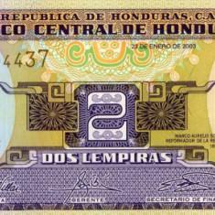 Honduras 2 lempiras 23 ianuarie 2003 unc