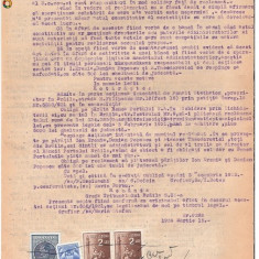 28 Document vechi fiscalizat -1939 -Braila -Sentinta comerciala - Pasaport/Document