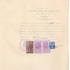 19 Document vechi fiscalizat -1937 -Braila- Certificat -filigran