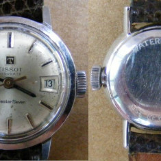 Ceas de dama TISSOT VISODATE Seastar Seven de colectie - Ceas dama Tissot, Mecanic-Manual, Piele, Analog