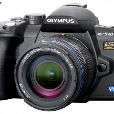 Olympus E510 + 3 obiective + alte accesorii - Aparat Foto Mirrorless Olympus, Kit (cu obiectiv)