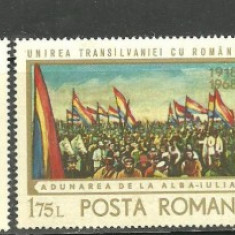 Romania 1968 - SEMICENTENAR MAREA UNIRE, serie nestampilata AF20, Nestampilat
