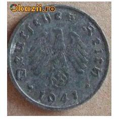 10 reichspfennig 1941 - 4 zvastica
