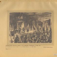Plansa Regele Carol I si Regina Elisabeta Incoronarea 1939