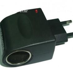 adaptor incarcator  masina  casa 220  la 12 v convertor