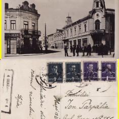 Husi (jud.Vaslui) - Strada Ghica Voda - rara, cenzura - Carte Postala Moldova 1904-1918, Circulata, Printata
