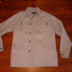 Geaca TOMMY HILFIGER marime M/L, bej - jacheta, bluza, Argintiu, Bumbac