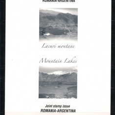 ROMANIA-2010 LACURI MONTANE -CARTON FILATELIC- LP 1876 b - Timbre Romania, Nestampilat