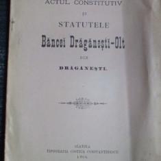 Statut- Banca DRAGANEST-OLT-Slatina.1904