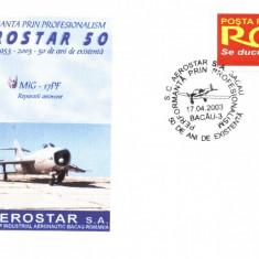Plic avion militar MiG-17PF, fost in dotarea aviatiei romane