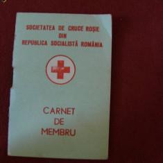CARNET DE MEMBRU SOCIETATEA DE CRUCEA ROSIE 1972, Documente