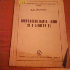 1396 A.V.Vostricov-Cognoscibilitatea lumii si a legilor ei - Roman, Anul publicarii: 1952
