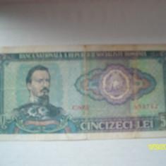 bancnota cincizeci lei 1966 alexandru ioan cuza