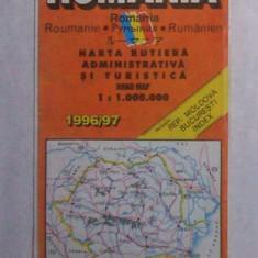 harta rutiera Romania 1996/1997