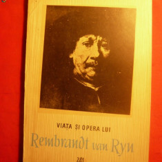 P. COMARNESCU - Viata si Opera lui Rembrandt van Ryn -1957 - Album Arta