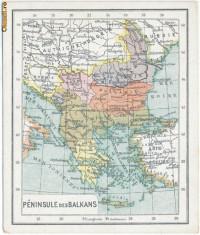 456 - Harta - Romania, Craiova, Pitesti, Alexandria, Sulina 1919 foto
