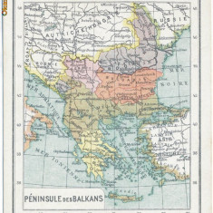 456 - Harta - Romania, Craiova, Pitesti, Alexandria, Sulina 1919 - Harta Romaniei