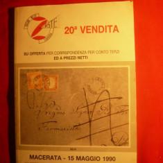 Catalog filatelic de licitatie - itallian -1990