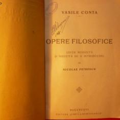 VASILE CONTA - OPERE FILOZOFICE - 1923 - Carte Filosofie