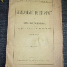 Regulament de Transport Caile Ferate Germane-iunie-1893 - Carte Editie princeps