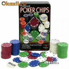 Set Casino Texas Hold`Em Poker cu 100 de Jetoane - Set poker