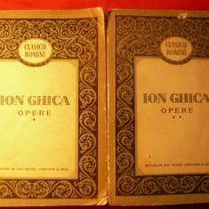 ION GHICA - OPERE - VOL.I si II - ed. 1956 - Biografie
