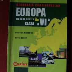 GEOGRAFIA CONTINENTELOR EUROPA MANUAL PT CLS A VI A ED CORINT - Manual scolar