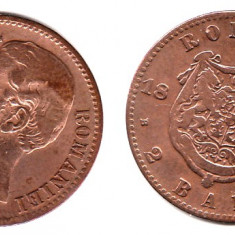 * Moneda 2 bani 1880 - Moneda Romania