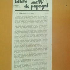 Revista Bilete de papagal nr 321 1929