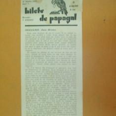 Revista Bilete de papagal nr 434 1929