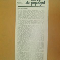 Revista Bilete de papagal nr 291 1929