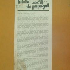 Revista Bilete de papagal nr 316 1929