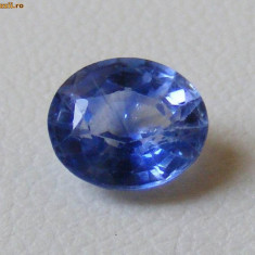 >> SAFIR NATURAL ALBASTRU SUPERB 7, 6 x 6 mm - de - 1, 61 ct.
