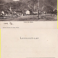 Vederi din Saliste (Sibiu)- clasica - Carte Postala Transilvania pana la 1904, Necirculata, Printata